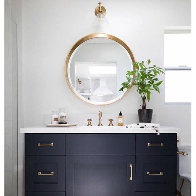 """""""Love this combination of Navy Blue and Brass! 