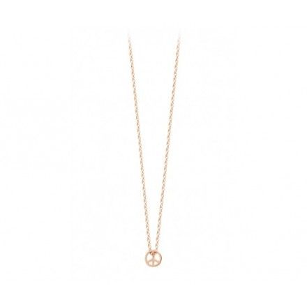 """Collier Ginette NY Collection Minis On Chain """"Peace and Love"""""""