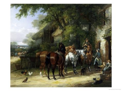 The Horse Fair at the Swan Inn Giclee Print
