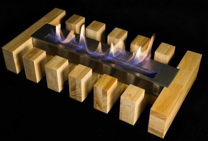 Base Fort  en maderas naturales para su #quemador #Fueco de #bioetanol