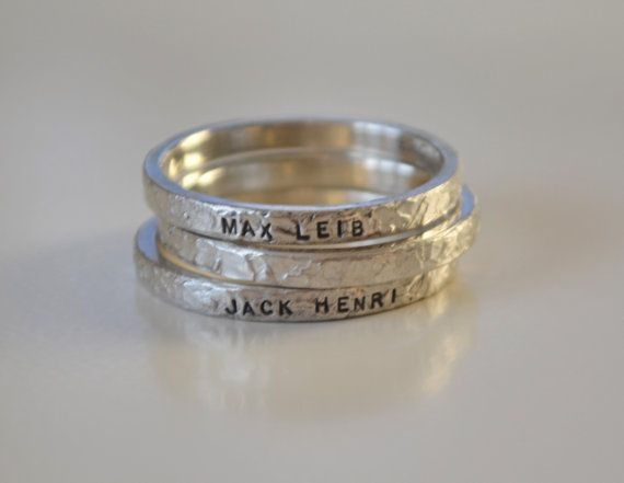 Hey, I found this really awesome Etsy listing at https://www.etsy.com/listing/164497909/personalized-hand-stamped-name-rings