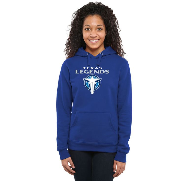 Texas Legends Women's Primary Logo Pullover Hoodie - Royal