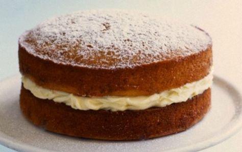 Κέικ βανίλιας με κρέμα λεμονιού