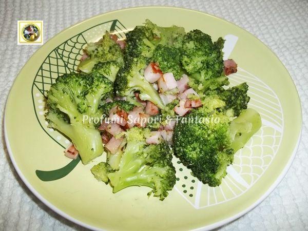 Broccoli ricetta semplice con pancetta stufata Blog Profumi Sapori & Fantasia
