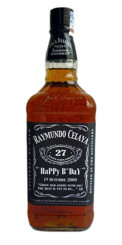 Whisky Jack Daniels Personalizado #Cumpleaños #Regalo