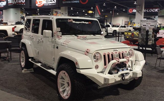 Cute Pink And White Jeep Future Jeep White Jeep White Jeep