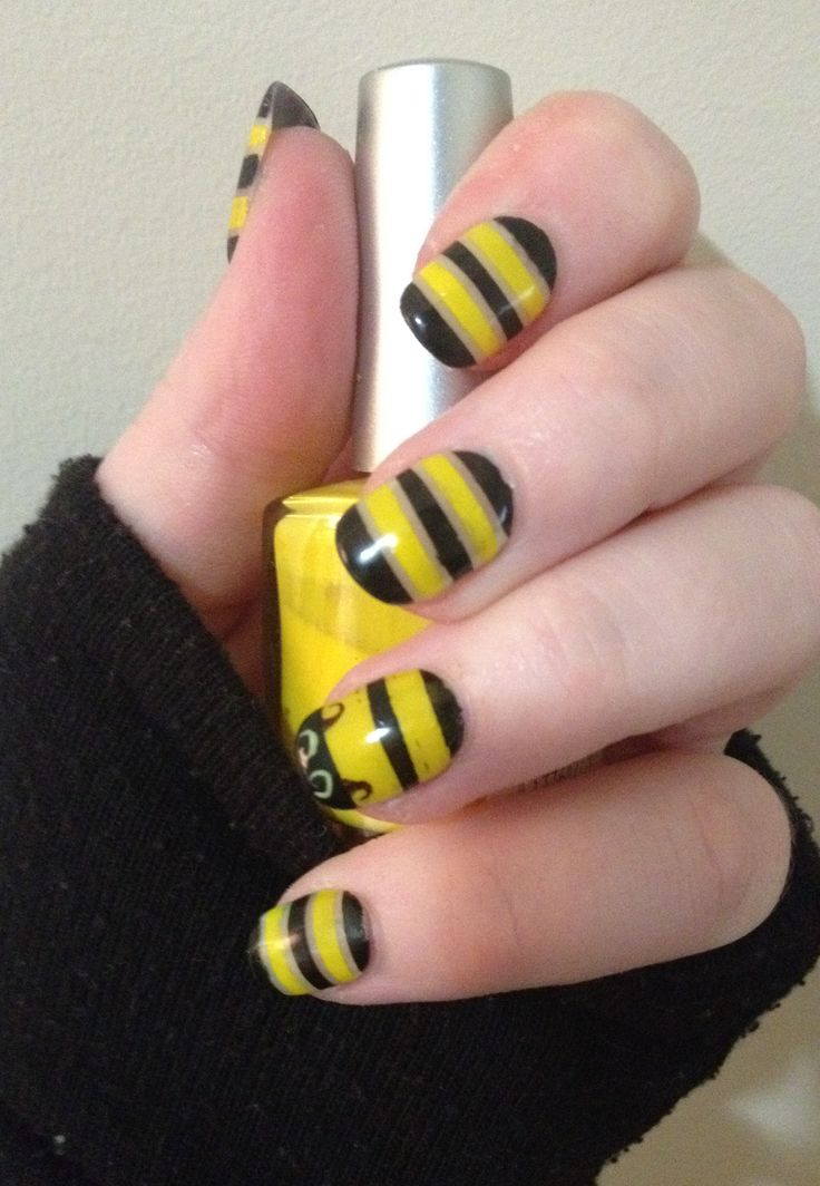 Bee themed nails!