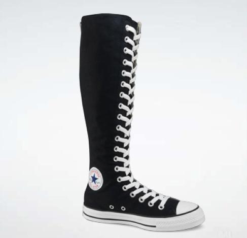 Knee high sneakers, Knee high converse