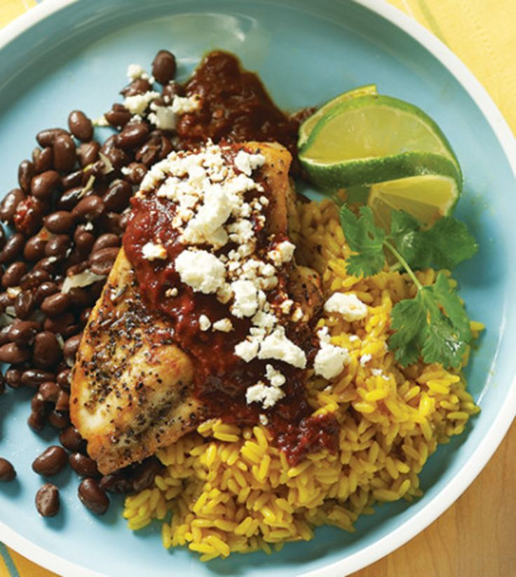 Ancho Chile Chicken with Black Beans image