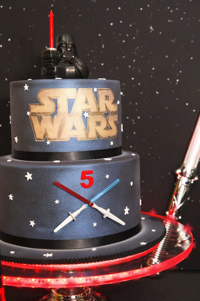 Star Wars themed birthday party via Kara's Party Ideas! full of decorating ideas, favors, games, printables, and more! #starwars #darthvader...