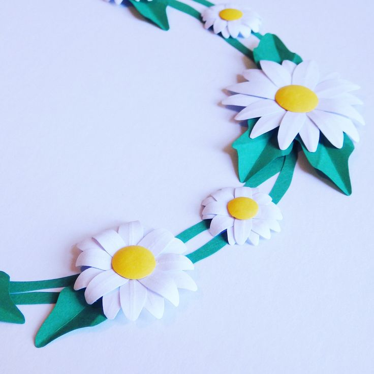 Close up of the handmade made Daisies used in my Framed Paper Daisy Chain  #studio #bespoke #custom #paperart #paper #art #daisy #daisychain #sculpture #handmade #frame #flower #floral #flatlay #love #wedding #anniversary #white #spring #nursery #gift