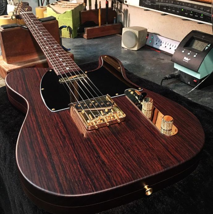 Some #TeleTuesday rosewood goodness from the Custom Shop. Built by Dale Wilson #Telecaster #Guitars