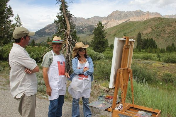 Artists who work en plein air must deal with natural and self-imposed burdens every time we go out to paint - including the possibility of marketing to strangers. We load our packs (paints, thinner, brushes, palette, canvas panel, towels, garbage bags, clamps, bungee cords, sunscreen, hat, collapsible umbrella, water and power bars)
