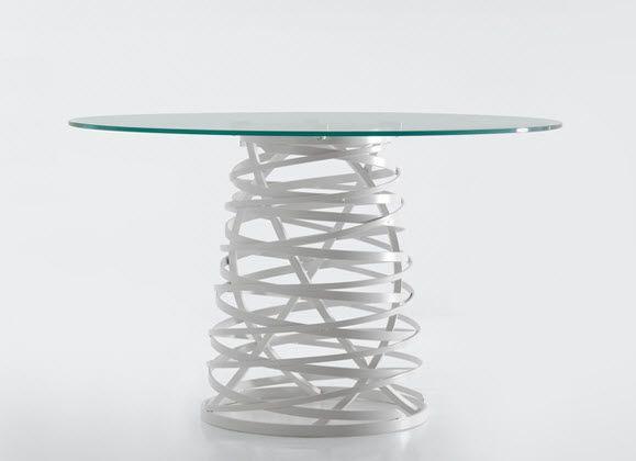 Tavolo design originale / in vetro / rotondo / da esterno NEST by Meneghello Paolelli Associati EMOH