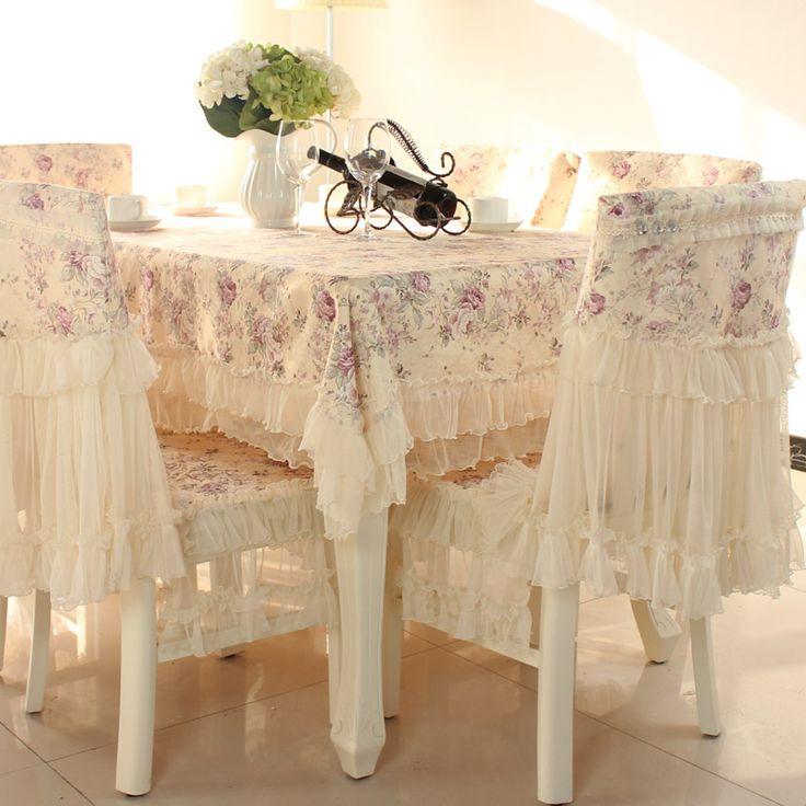 Maison de luxe textile 150 x 200 cm dentelle rectangulaire ensemble de linge de table couverture de chaise rétro princesse chaises coussin cuisine tissu(China (Mainland))