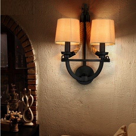 Cheap wall lights for home, Buy Quality wall light directly from China industrial wall lights Suppliers: Loft Style Rope Fabric Wall Sconce LED Vintage Wall Lamp Antique Industrial Wall Lights For Home Indoor Lighting Arandela