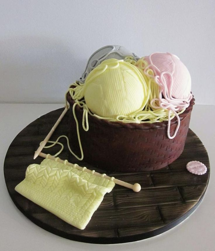 Knitting Cake Decorations : Happy knitting cakes cake decorating daily