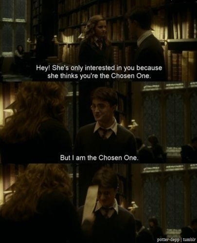 One of the best moments from an otherwise dismal movie. In fact, interactions between Harry and Hermione might be the only thing saving HBP.