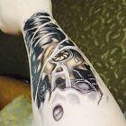 2Körper Kunst Männer 3D Tattoo Roboterarm wasserdicht temporäre Tattoo 4H #De… – Dekorationen