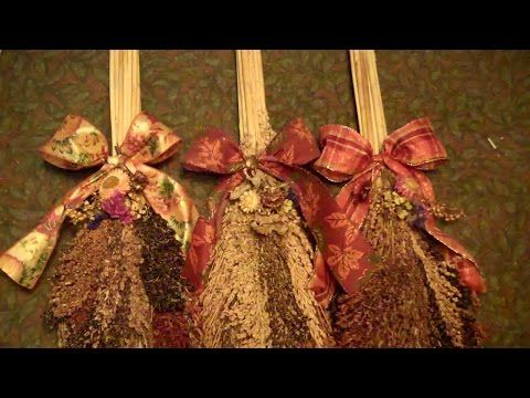 How to Make a Broom Corn Swag - YouTube