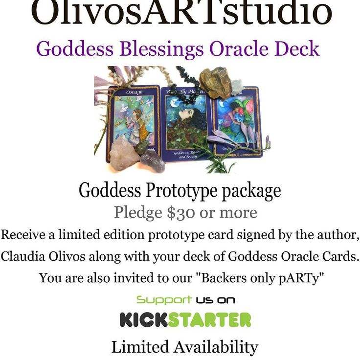 Join us on our Kickstarter and get your own Goddess Oracle Deck at https://www.kickstarter.com/projects/claudiaolivos/goddess-blessings-oracle-deck?ref=discovery