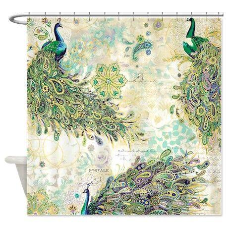 peacock bathrooms | Art Gifts > Art Bathroom Accessories & Décor > Peacock Pattern Shower ...