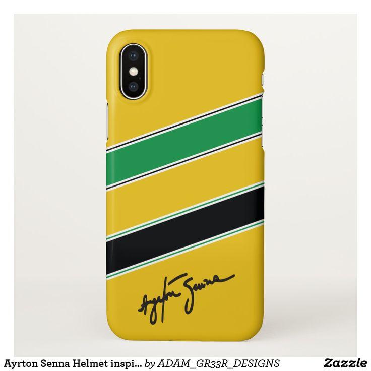 Ayrton Senna Helmet inspired phone case