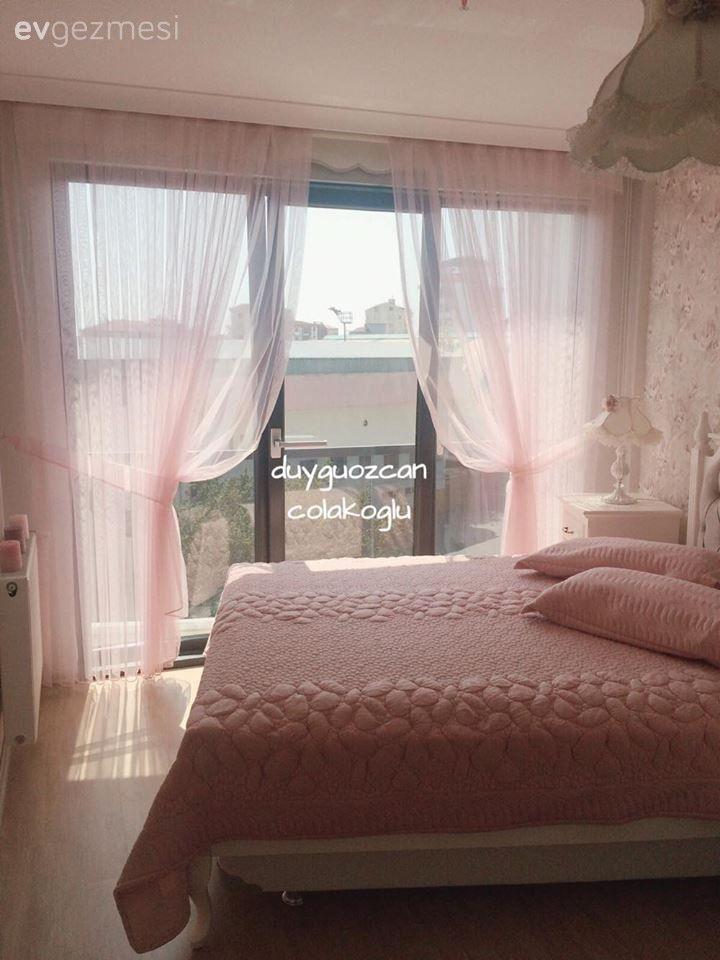 Country, Pembe, Perde, Yatak Odası, Yatak örtüsü