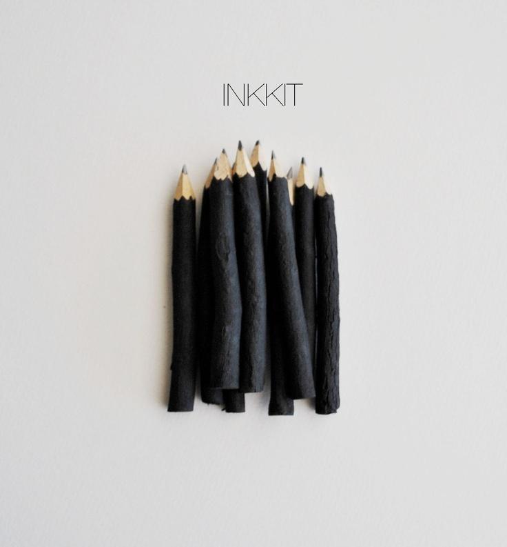 black twig pencils