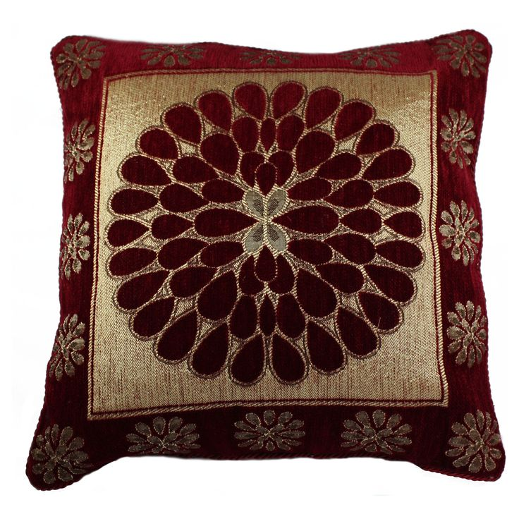 Accentuate the decor of your living room with this piece of cushion cover which is in combination of Red/Maroon & ivory/cream colour. This attractive product will lift your mood. Further, this cushion cover blends well with all interior types and can be placed in your living room or even your bedroom. FEATURES : 16 Inch * 16 Inch / 40.5 cm *  40.5 cm