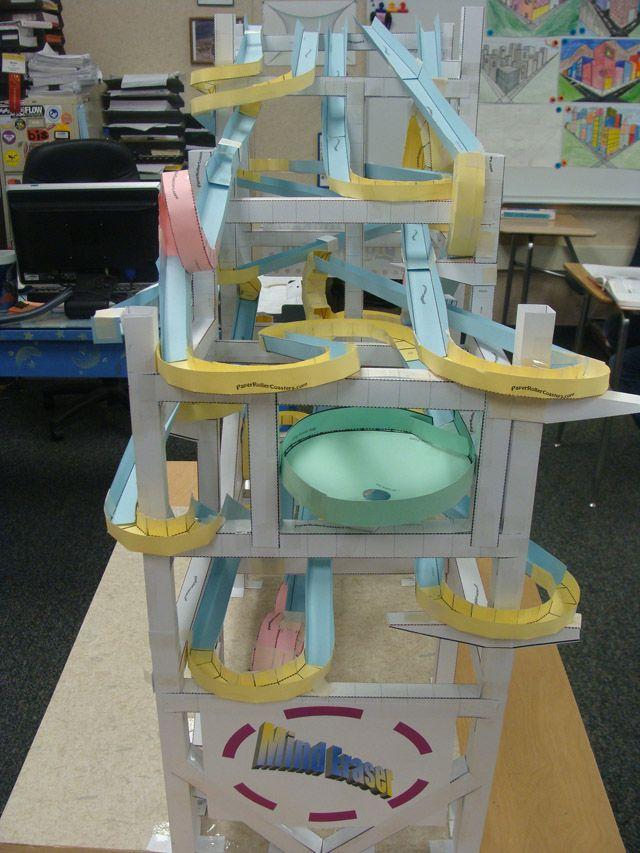 8 Best Roller Coasters Images On Pinterest Paper Roller