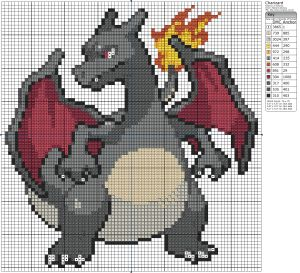 Todays pattern is one of the most awesome pokémon of all time. It's charizard!