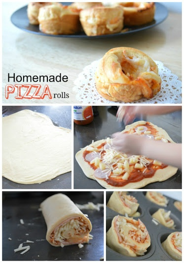 Make these homemade pizza rolls as a finger food or an easy way for your kids to eat dinner. Put your ingredients of choice in it and bake in a muffin tin!