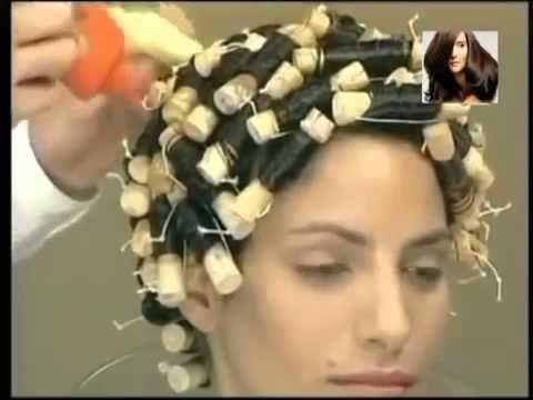 Как делается химическая завивка волос - YouTube