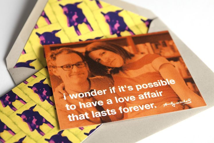 Andy Warhol inspired wedding invites Swiss Cottage Design