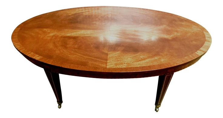 Regency Crotch Mahogany Coffee Table on Chairish.com