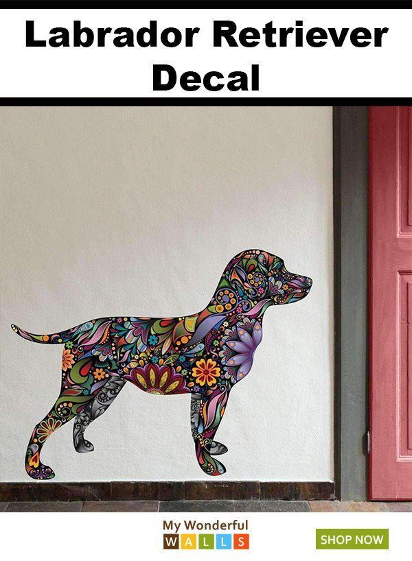Labrador Retriever Dog Decal Wall Sticker Labrador Retriever English Bulldog Dog Dog Decals