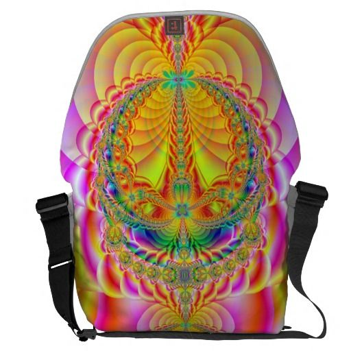 colorful fractal courier bags