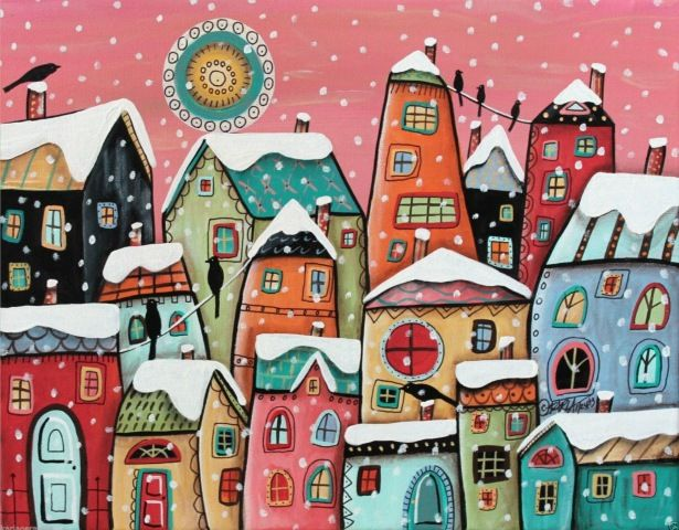 """Winter Cityscape"" by Karla Gerard"