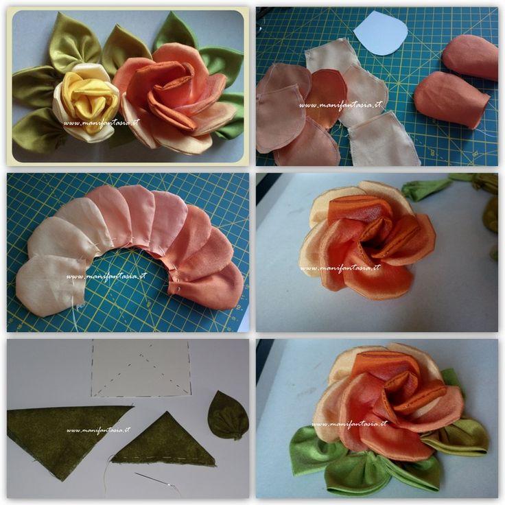 rose di stoffa tutorial