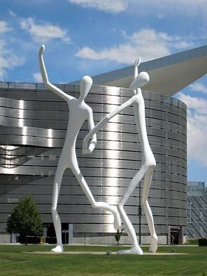 """Dancers"" by Jonathan Borofsky at the Denver Center for Performing Arts"