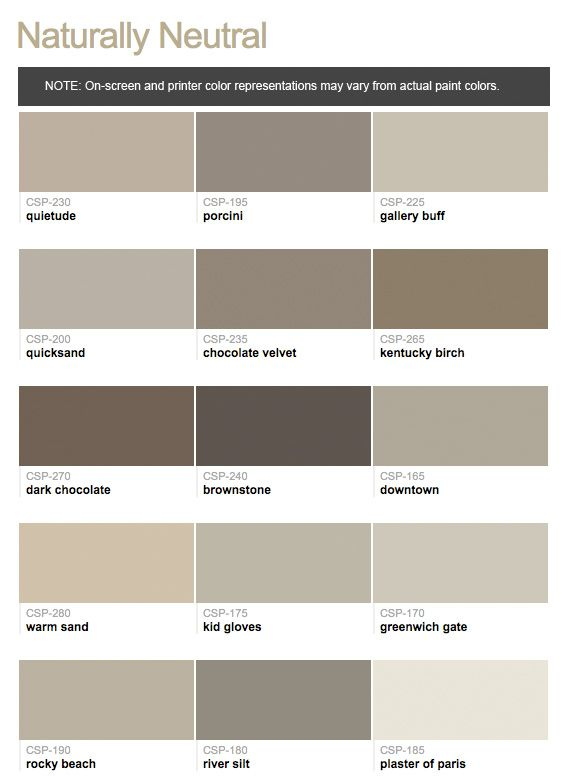 Paint Colors Benjamin Moore Taupe Paints From Hirshfield S Bedroom Pinterest Wandfarbe Farben And Farbpalette