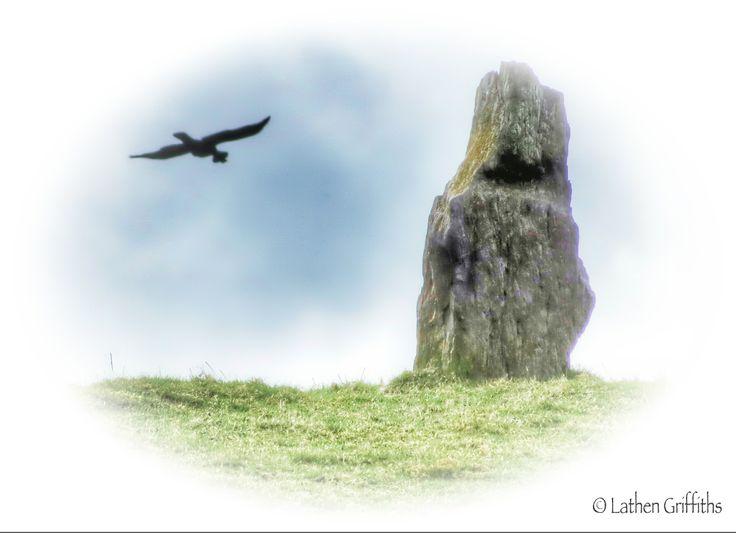 Lower of the standing stones near Cwmdarren