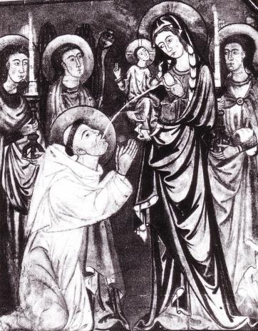 lactation of St. Bernard.... c.1290