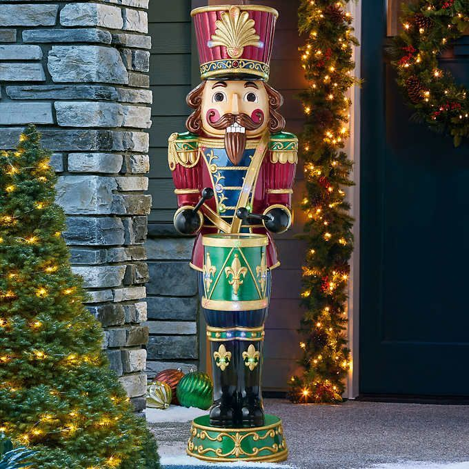 Christmas Sale Animated Musical Nutcracker With Drum Jiangoua In 2020 Outdoor Christmas Decorations Outdoor Christmas Nutcracker Christmas