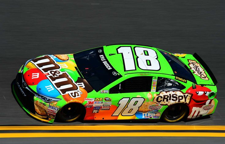 M&M'S celebrates 27 years in racing in its 75th anniversary year:   Thursday, June 9, 2016  -   DAYTONA BEACH, FL - FEBRUARY 14: Kyle Busch, driver of the No. 18 M&M'S Crispy Toyota, practices for the 57th Annual Daytona 500 at Daytona International Speedway on February 14, 2015 in Daytona Beach, Florida. (Photo by Robert Laberge/NASCAR via Getty Images)