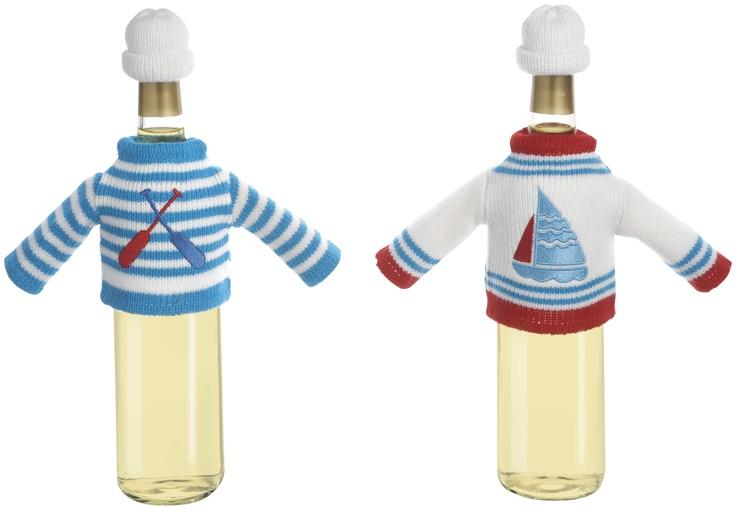 Sailor wine bottle covers!