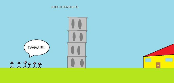 torre di pisa diritta