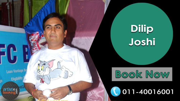 Book Dilip Joshi From Artistebooking.com. ‪#‎artistebooking‬ ‪#‎DilipJoshi‬ ‪#TVCelebrity‬. For More Details Visit : artistebooking.com Or Call : 011-40016001