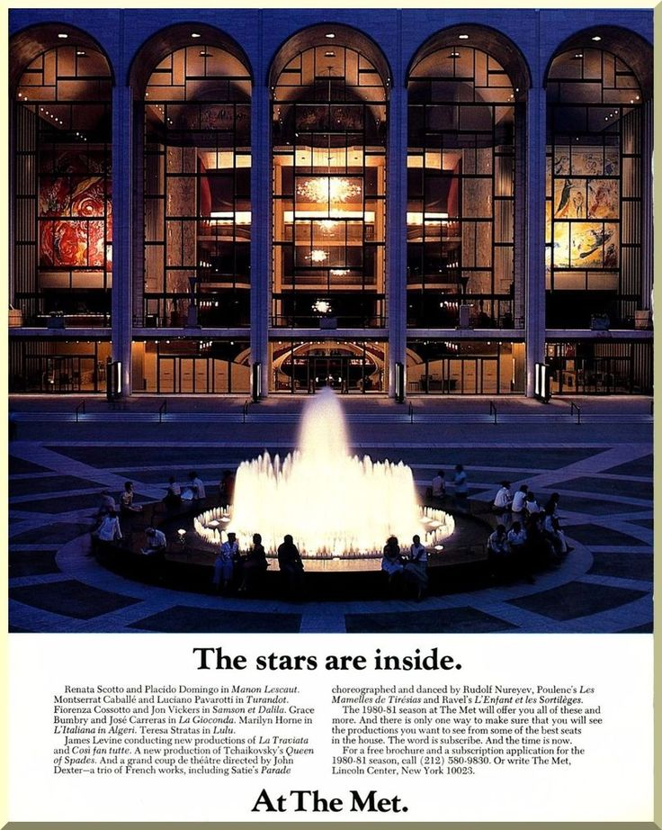 metropolitan opera new york city ny 1980 vintage color print ad